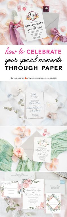 The ultimate in custom wedding invitations, stationery and all things paper. Express your personal style and vision for your wedding day with a custom design to celebrate your special moments in life through paper. One-of-a-kind designs from Simply Paper / as seen on www.BrendasWeddingBlog.com
