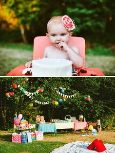 FUN & Colorful Backyard First Birthday! // Hostess with the Mostess®
