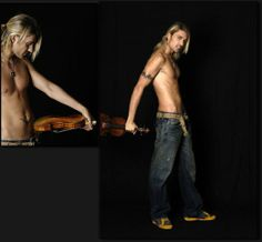 David Garrett nearly naked oh oh...great musician and also very sexy!