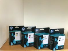 4 NEW HP CARTRIDGES 2022 DATE HP 82 Magenta/Cyan/Yellow HP 10 Black #HP