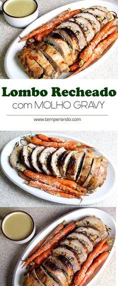 LOMBO RECHEADO - como preparar um delicioso lombo recheado com um molho gravy super saboroso para a sua ceia de natal #receita #natal #vídeo