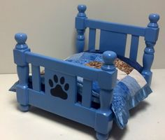 Adorable hand crafted wooden Dog Bed.