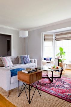 Layer Rugs - Copy Cat Chic: Copy Cat Chic Room Redo | Modern Texture