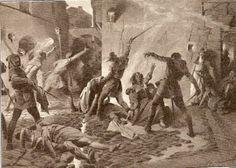 Matanza de judíos en Barcelona en 1391 (Josep Segrelles, ca. 1910).