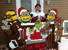 we were too late to get it all up minion christmasgrinch who stole christmaschristmas yard artchristmas projectschristmas