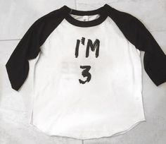 Third birthday shirts. 3 birthday shirts. Third by LittleBeansCo