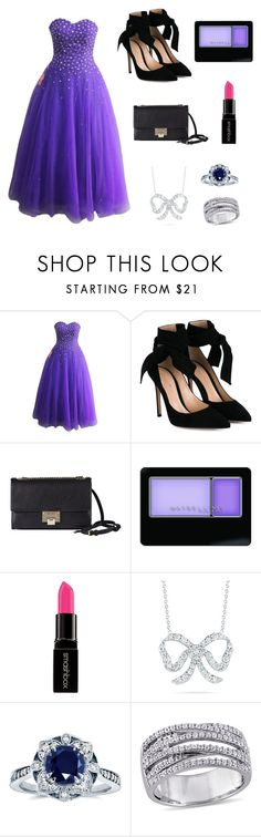 """""""Prom style :)"""" by hadzic-ramiza ❤ liked on Polyvore featuring Gianvito Rossi, Jimmy Choo, Maybelline, Smashbox, Roberto Coin and Kobelli"""