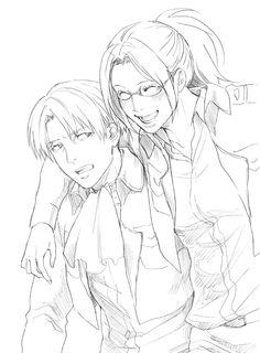Hanji and Levi best friends