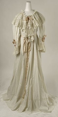 Dressing Gown  --  Late 1890s  --  American or European  --  Silk & cotton  --  The Costume Institute at The Metropolitan Museum of Art