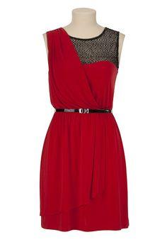 Sequin Drape Wrap Dress - maurices.com
