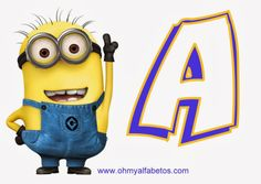 {Free} printable Minion alphabet A-Z and 0-9 and a blank one