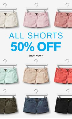 Express - All Shorts are 50% Off!