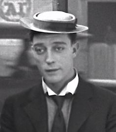 "Buster Keaton making an amazing face in ""Hard Luck"" (1921)"