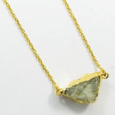 New design Natural Aquamarine gemstone gold electroplated brass chain necklace #Handmade #Chain #Magicalcollection #Gemstone #Necklace Jewelry #Sterling Silver #Necklace