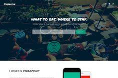 Pineapple - App Landing Page by Slongrad on Creative Market