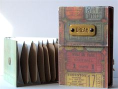 """Mini album using coin envelopes that measure 3 1/2"""" x 2 1/4"""". binder made from scratch. Must try this layout!"""