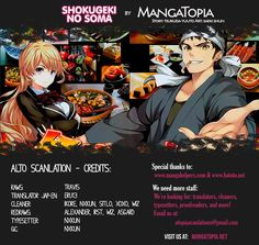 Read Shokugeki no Soma One Shot online. Shokugeki no Soma One Shot English. You could read the latest and hottest Shokugeki no Soma One Shot in MangaHere. Shokugeki No Soma Manga, Proofreader, Manga Comics, Thankful, Shot Online, Reading, Anime, Movie Posters, Film Poster
