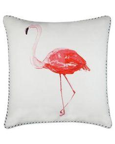 Elise & James Home Flamingo Print Pillow