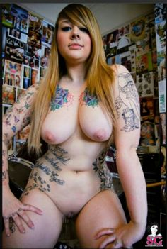 Naked tattooed chubby 7