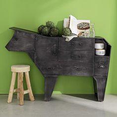 Metal cow storage cabinet W 144cm