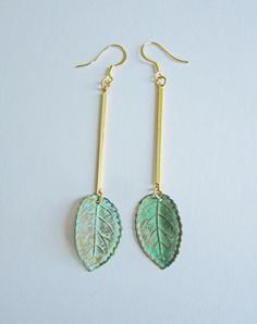 Fallen For You Leaf Earrings — Eclectic Eccentricity Vintage Jewellery