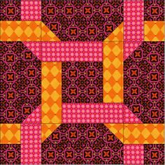 Knotted rings quilt block.