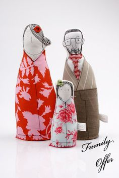 Cloth Doll Family. So cute.