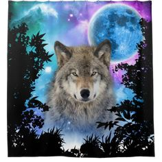 Check out this awesome 'Timber+Wolf+MidNight+Forest' design on Wolf Photos, Wolf Pictures, Animal Pictures, Beautiful Wolves, Animals Beautiful, Galaxy Wolf, Wolf Spirit Animal, Wolf Artwork, Timber Wolf