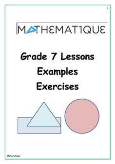Lesson Bundle specifically for Grade 5 and up. Each subject is explained thoroughly via a lesson. We then supply a worksheet with memo (Answer sheet) which can be used in class or sent home as homework to test understanding of the subject discussed. Area Worksheets, Divisibility Rules, Multiplying Fractions, Mathematics, Lesson Plans, Fun Facts, How To Plan, Homework, Circles