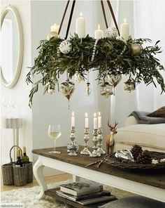 Wiszący wieniec adwentowy & Hanging advent wreath