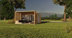 Dom modułowy, nowoczesny - BoXi1. Dom do 35m2. CONTiBOX Garage Doors, Shed, Outdoor Structures, Outdoor Decor, Home Decor, Tourism, Decoration Home, Room Decor, Home Interior Design