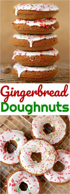 Gingerbread Doughnuts recipe from The Country Cook #baked #doughnuts #dessert #recipes #ideas