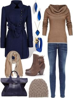 ?? Stunning Womens Shoes / Blue and Brown by angela-windsor on Polyvore |Blue Heels|