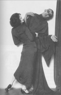 """Anita Berber und Sebastian Droste ~ Sebastian Droste (1892-1927) was a poet, actor and dancer connected with the gay and underworld subcultures of Berlin in the 1920s. In 1922, Droste married expressionist exotic dancer and actress in German silent movies, Anita Berber. She and Droste performed fantasias with titles such as """"Suicide,"""" """"Morphium,"""" and """"Mad House""""."""