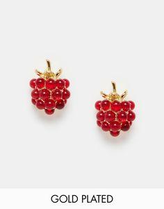 Bill Skinner Wild Berry Sparkle Stud Earrings