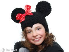 Handmade crochet mouse hat for adults, teens, kids, babies, boys or girls.