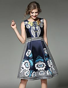 Maxlindy+Women's+Going+out+/+Party/Cocktail+/+Holiday+Vintage+/+Street+chic+/A+Line+Dress+–+GBP+£+21.10
