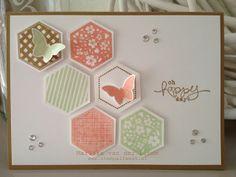 Hexagon punch card