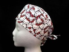 Tie Back Scrub Cap Pattern | Hello Kitty Packed Tie Back Scrub Cap Medhats™