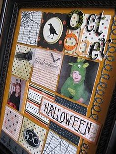 Halloween framed layout
