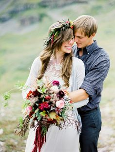 this bouquet!!   Read More: http://www.stylemepretty.com/2013/10/11/rugged-mountain-shoot-from-brumley-and-wells/
