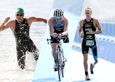 Athletes push themselves to their limits in swimming, cycling and running in…