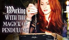 Working With The Magick of Pendulums, The White Witch Parlour. How to use a Pendulum, magick, meaning, metaphysical, enchanted, psychic, divination, spellcraft, book of shadows, lightworker, healing, spiritual, wicca, crystals.  facebook.com/thewhitewitchparlour