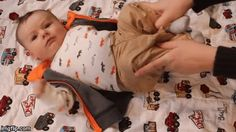Relieve gas by gently pushing your baby's knees toward their chest.
