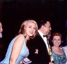 Sandra Milo, Federico Fellini and Giulietta Masina, 1964