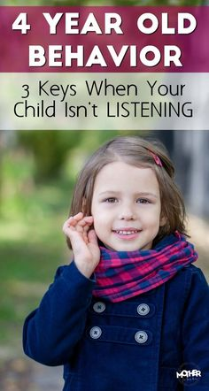 If your 4 year old's behavior shows he isn't listening, these tips will help turn your days around with your little one and create a connection that'll last through childhood. 4 Year Old Girl, Four Year Old, Toddler Behavior, Toddler Discipline, Parenting Toddlers, Parenting Hacks, Parenting Issues, Parenting Classes, Parenting Styles