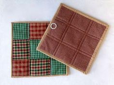 Quilted Patchwork Pot Holders Hot Pads Trivets by DocksideDesigns
