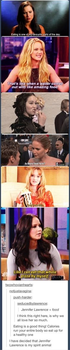 Jennifer Lawrence and food