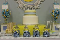 Hostess with the Mostess® - Blue-Grey & Yellow Baby shower