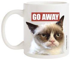 Grumpy Cat Porcelain Mug, Go Away Grumpy Cat http://www.amazon.com/dp/B00HW28R5O/ref=cm_sw_r_pi_dp_EzzWtb05T182350K
